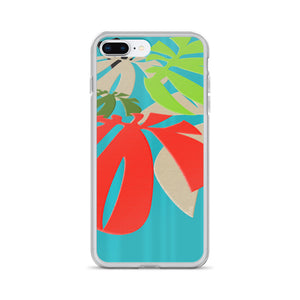 iPhone Case - Tropical: Happy Monstera by Lidka Schuch