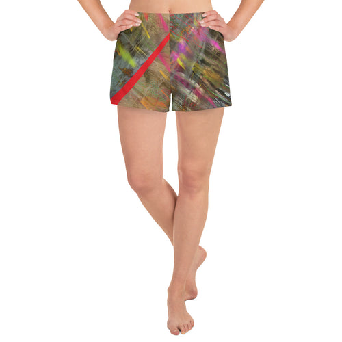 Sport Shorts - Wrapped in Trees: Spring Mambo Red by Lidka Schuch