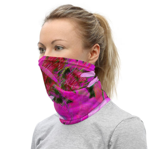 Neck Gaiter - Florals: Very Pink Susans by Lidka Schuch