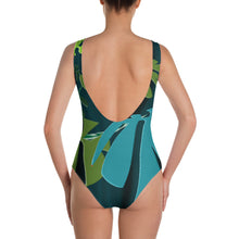 One-Piece Swimsuit - Tropical: Spiral Monstera by Lidka Schuch