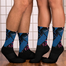 Socks, Unisex - Yesterday in Parisian Blue and Pink by Barbara Galinska (BaGa)