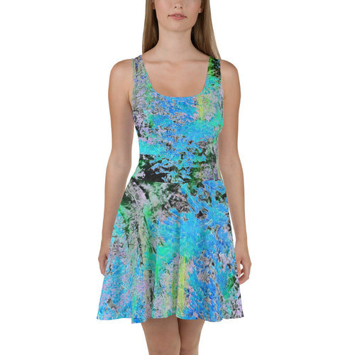 Skater Dress - Wrapped in Trees: Maples in Blue by Lidka Schuch