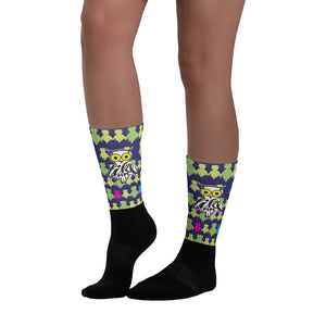 Socks, Unisex - AnimaLetters: Hoot Like and Owl by Barbara Galinska (BaGa)