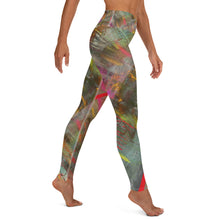 Leggings, Yoga Cut - Wrapped in Trees: Spring Mambo Red by Lidka Schuch