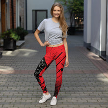 Leggings, Classic Cut - Yesterday in Red by Barbara Galinska (BaGa)