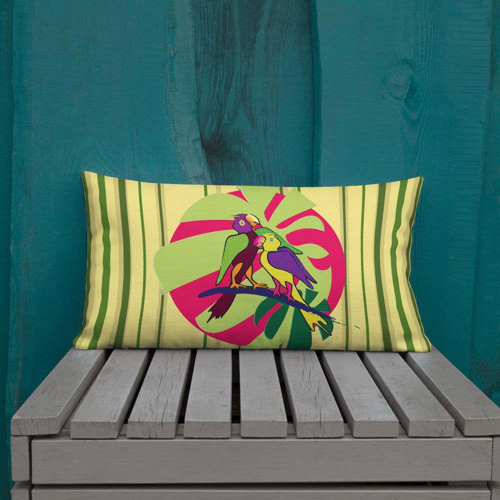 Premium Pillow - Tropical: Sweethearts 2 by Lidka Schuch