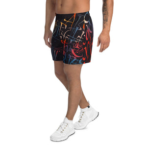 Men's Athletic Long Shorts - Temptation by Barbara Galinska (BaGa)