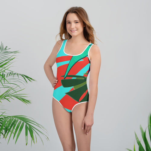 Tween's & Teen's Swimsuit - Tropical: Drunk on Berries by Lidka Schuch