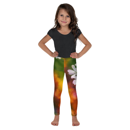 Kid's Leggings - Florals: Cilantro Splash by Lidka Schuch