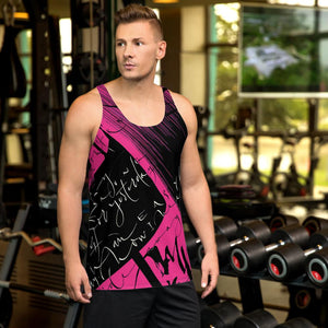 Men's Tank Top - Yesterday in Hot Pink by Barbara Galinska (BaGa)