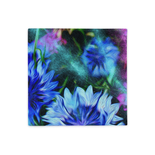 Basic Pillow Case only - Florals: Cornflower Party by Night by Lidka Schuch