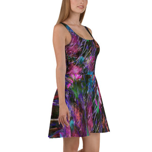 Skater Dress - Florals: Phlox Party by Night by Lidka Schuch