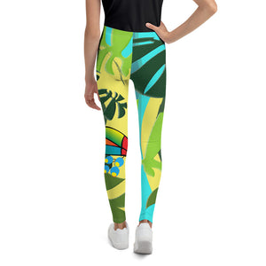 Tween's & Teen's Leggings - Tropical: Spiral Toucan by Lidka Schuch