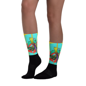 Socks, Unisex - Tropical: Drunk on Berries by Lidka Schuch