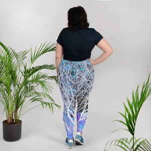 Leggings, plus size - Wrapped in Trees: Sumac Dream by Lidka Schuch