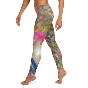 Leggings, Classic Cut - Wrapped in Trees: Spring Mambo Blue by Lidka Schuch