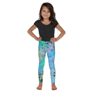 Kid's Leggings - Wrapped in Trees: Maples in Blue by Lidka Schuch