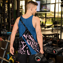 Men's Tank Top - Yesterday in Parisian Blue and Pink by Barbara Galinska (BaGa)