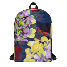 Backpack - Florals: Yellow Hydrangea by Lidka Schuch