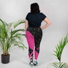 Leggings, plus size - Yesterday in Hot Pink by Barbara Galinska (BaGa)