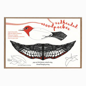 Blackbird Letterpress - Woodpecker pop-out bird card
