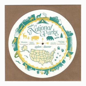 National Parks spinner / volvelle