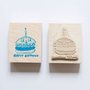 Yellow Owl Workshop - Burger Birthday Individual Stamp
