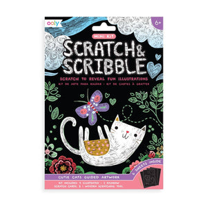 OOLY - Mini Scratch & Scribble Art Kit: Cutie Cats