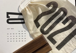 2021 Wood Type Letterpress Calendar
