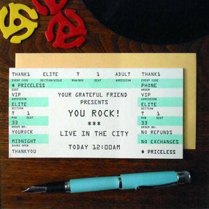 a. favorite design - You Rock Concert Ticket