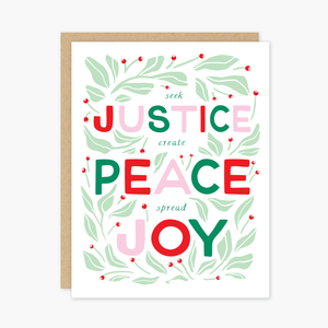 Party of One - Justice Christmas Card