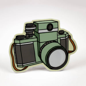 Little Hiker Bird - Vintage Camera Vinyl Sticker