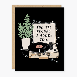 Party of One - Adore You Record Card