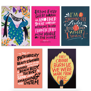 Emily McDowell & Friends - Feminist Postcard Book