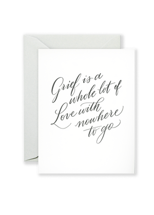 Lionheart Prints - Love With Nowhere To Go Greeting Card