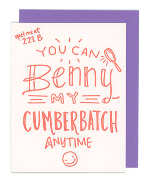 Benny Cumberbatch Letterpress Card