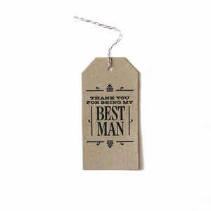 Best Man Thanks Tag