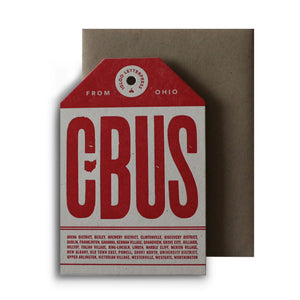 CBUS Tag Letterpress Card