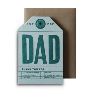 Dad Tag Letterpress Card