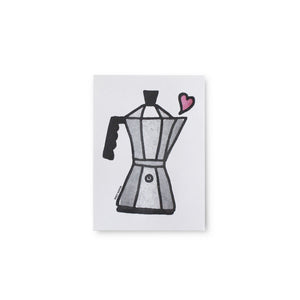 Coffee Pot Letterpress Print