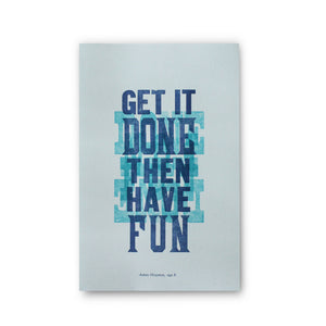 Get It Done Letterpress Poster