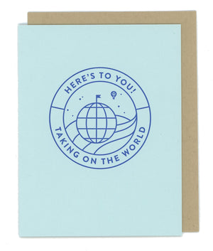 Here's To You Letterpress Card