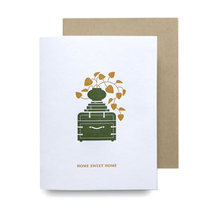 Home Sweet Home Plant Letterpress Card
