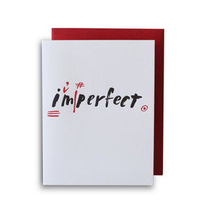 I'm Perfect Letterpress Card