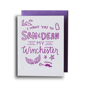 Sam & Dean Letterpress Card