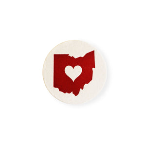 Ohio Heart Coaster Set of 4