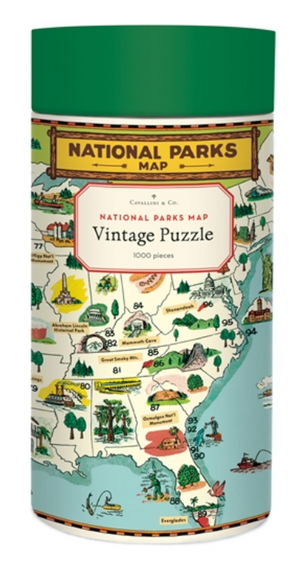 National Parks Map Puzzle 1000 pieces 🗺