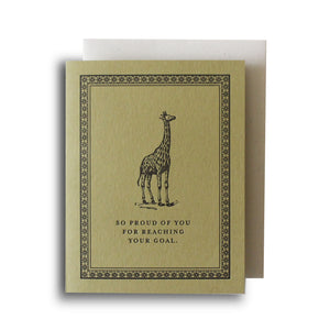 Giraffe Goals Letterpress Card