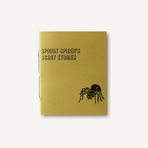 Spooky Spider's Scary Stories Hand Sewn Journal with Letterpress Cover