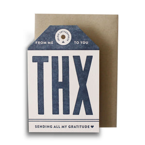 THX Tag Letterpress Card